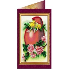 Набір для вишивання бісером листівка Абріс Арт АО-005 Пасхальна листівка-5