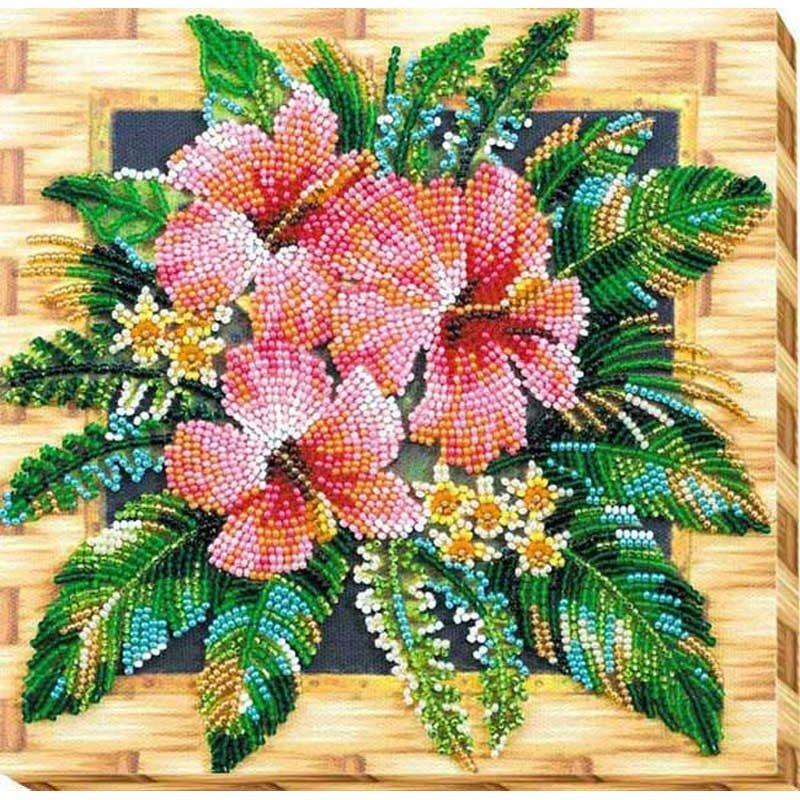 Набір-міді для вишивки бісером Абріс Арт АМВ-026 Квіти Танзанії