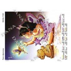 Схема для вишивання бісером ДАНА-1122 Гра з феєчкою