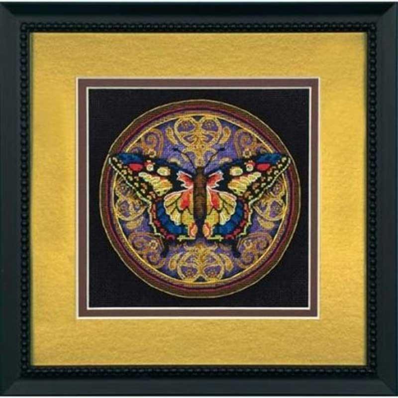 Набір для вишивання хрестиком Dimensions 65095 Витіюватий метелик