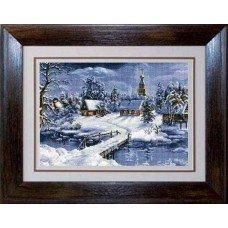 Набір для вишивання хрестиком Luca-S B447 Зимній пейзаж