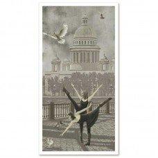 Набір для вишивки нитками на канві з фоновим зображенням Нова Слобода АС6006 Санкт-Петербург Ісаакіївський собор