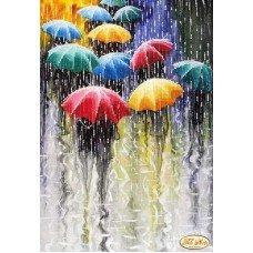 Cхема для вишивки бісером Тела Артис ТА-220 Веселі парасольки